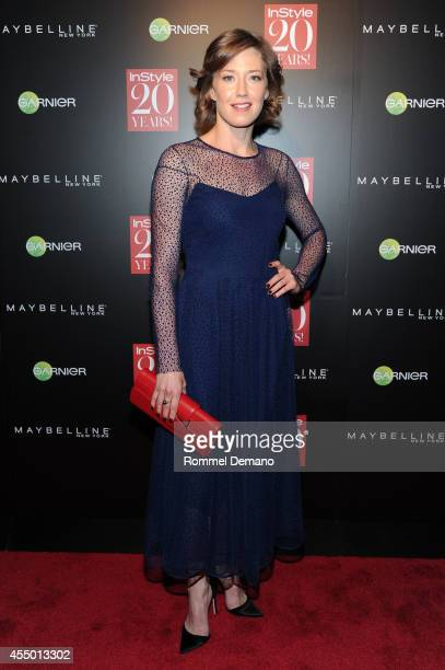 Carrie Coon attends the Instyle Hosts 20th Anniversary Party at Diamond Horseshoe at the Paramount Hotel on September 8 2014 in New York City