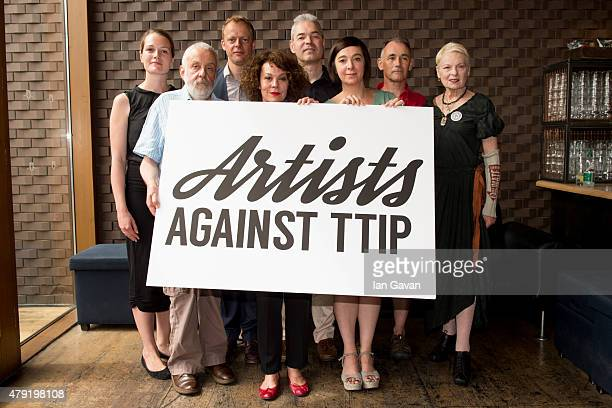 Carrie Cracknell Mike Leigh Nick Dearden Helen McCrory John Hilary Vicky Featherstone Mark Rylance and Vivienne Westwood attend the Artists Against...