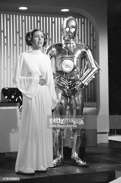 SPECIAL Carrie Fisher and Anthony Daniels Image dated August 23 1978