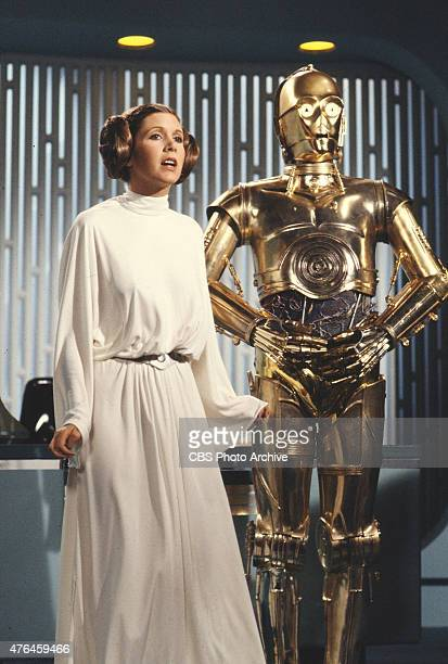Carrie Fisher and Anthony Daniels star in the CBS television ' THE STAR WARS HOLIDAY SPECIAL' Image dated August 23 1978