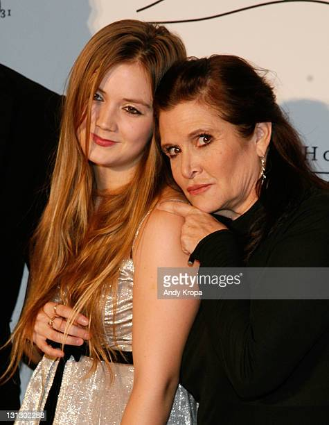 Carrie Fisher and Billie Lourd attend the 2011 Silver Hill Hospital gala at Cipriani 42nd Street on November 3 2011 in New York City