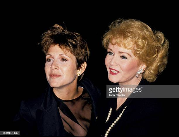 Carrie Fisher and Debbie Reynolds during 'The Unsinkable Molly Brown' New York Premiere at Pantages Theater in New York City New York United States