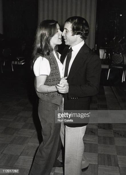 Carrie Fisher and Paul Simon during 'The Goodbye People' Opening Party New York City at Americana Hotel in New York City New York United States
