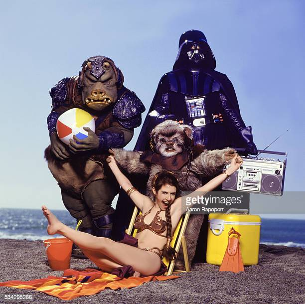 Carrie Fisher and some Star Wars friends