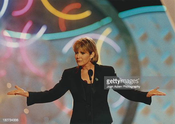 Carrie Fisher at the American Comedy Awards on February 9 1997 at the Shrine Auditorium in Los Angeles California