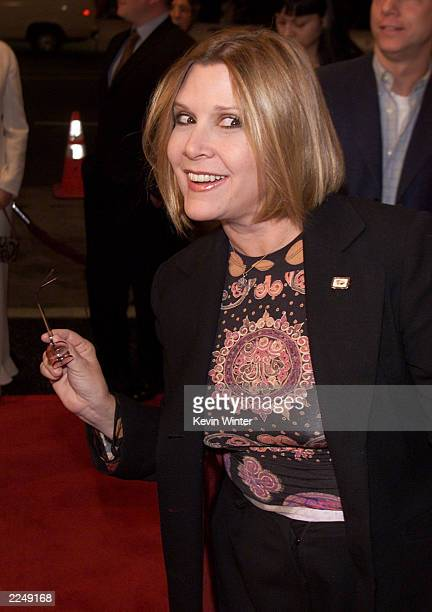 Carrie Fisher at the premiere for 'Heartbreakers' at the El Capitan Theater in Los Angeles Ca 3/19/01 Photo by Kevin Winter/Getty Images