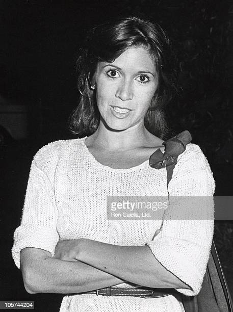 Carrie Fisher during Carrie Fisher Sighting at Spagos Restaurant August 2 1983 at Spagos Restaurant in Los Angeles California United States