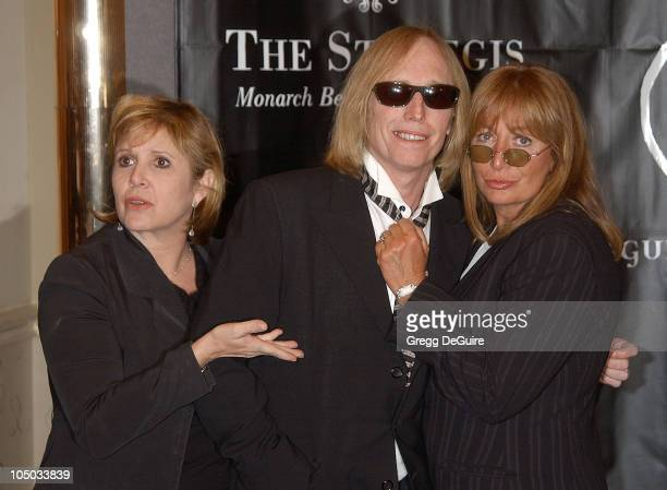 Carrie Fisher Tom Petty and Penny Marshall during 'Art for AIDS II' Benefit at St Regis Monarch Beach Resort Spa in Monarch Beach California United...