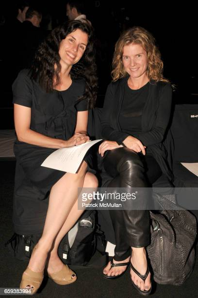 Carrie Kane and Sharon Watrous attend NARCISO RODRIGUEZ Spring/Summer 2010 at Bryant Part Tents on September 15 2009 in New York City