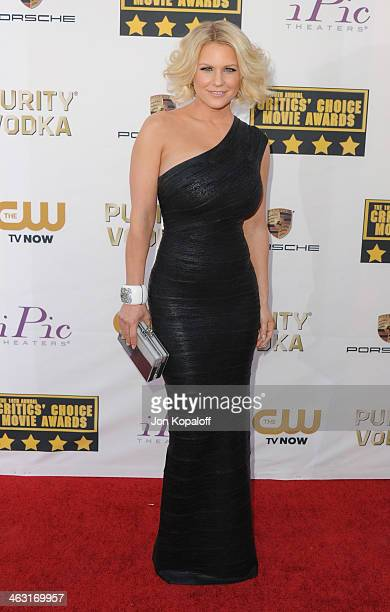 Carrie Keagan arrives at the 19th Annual Critics' Choice Movie Awards at Barker Hangar on January 16 2014 in Santa Monica California
