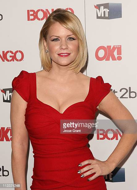 Carrie Keagan arrives at the OK Magazine Toasts Hollywood's Sexiest Singles event at the Lexington Social House on April 14 2011 in Hollywood...