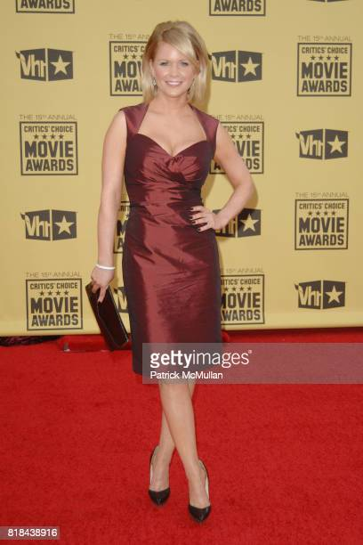 Carrie Keagan attends 2010 Critics Choice Awards at The Palladium on January 15 2010 in Hollywood California