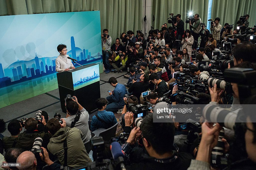 Hong Kong's Chief Secretary Carrie Lam Runs For Chief Executive