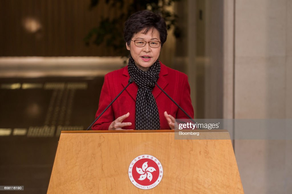 Hong Kong's Chief Executive Leung Chun-ying and Chief Executive-Elect Carrie Lam News Conference