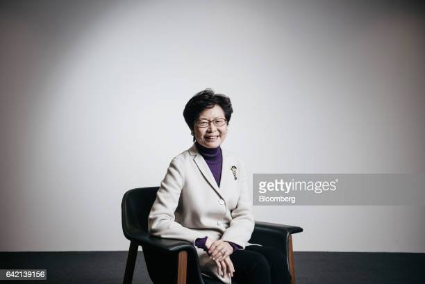 Carrie Lam Hong Kong's former chief secretary poses for a photograph in Hong Kong China on Thursday Feb 16 2017 Lam widely seen as the frontrunner to...