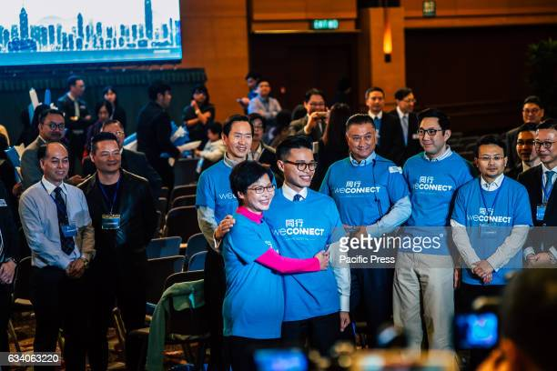 Carrie Lam with her son Jeremy Carrie Lam pledged to connect to mend the divided community and build broader consensus if she became the next Chief...