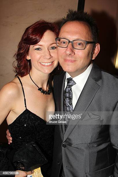 Carrie Preston and Michael Emerson poses at the Opening Night of 'You Can't Take It With You' on Broadway at The Longacre Theatre on September 28...