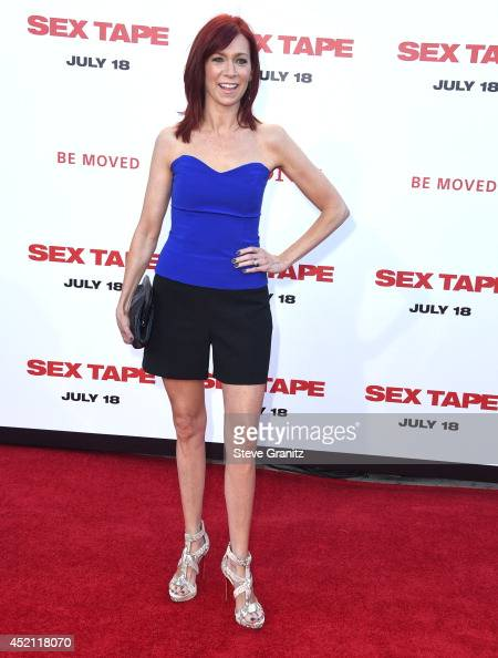 Carrie Preston arrives at the 'Sex Tape' Los Angeles Premiere at Regency Village Theatre on July 10 2014 in Westwood California