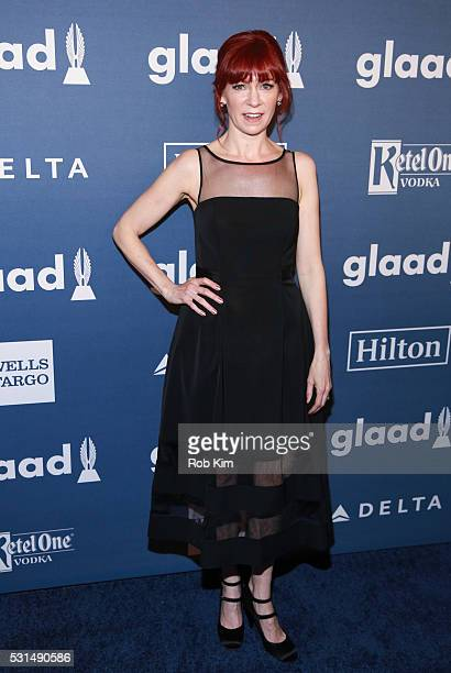 Carrie Preston arrives for the 27th Annual GLAAD Media Awards at The Waldorf=Astoria on May 14 2016 in New York City