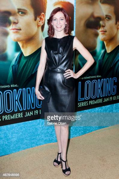 Carrie Preston arrives for the Premiere Of The HBO Comedy Series' 'Looking' Arrivals on January 15 2014 in Hollywood California