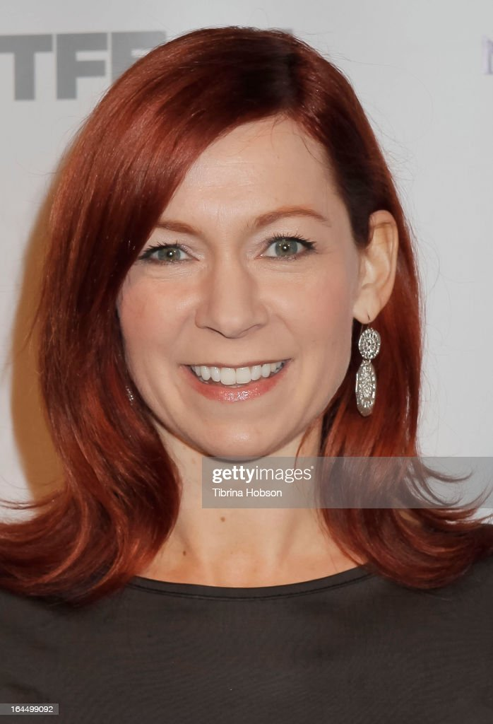 Carrie Preston attends the OutFest Fusion LGBT People of Color Film Festival closing night at the Egyptian Theatre on March 23, 2013 in Hollywood, California.