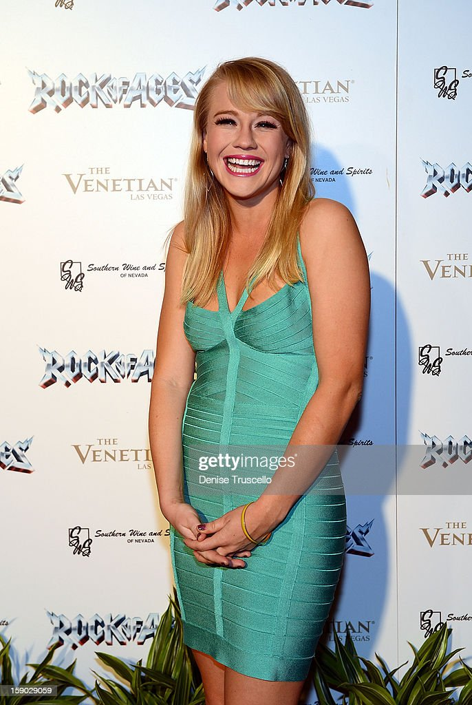 Carrie St. Louis arrives at the Rock Of Ages opening after party at The Venetian on January 5, 2013 in Las Vegas, Nevada.