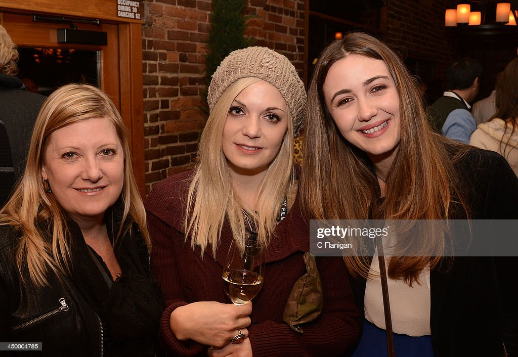 Carrie Stratford, Laura Peters and actress Madeline Zima attend The Hollywood Reporter After Party at the Napa Valley Film Festival Celebrity Tribute on November 15, 2013 in Napa, California.