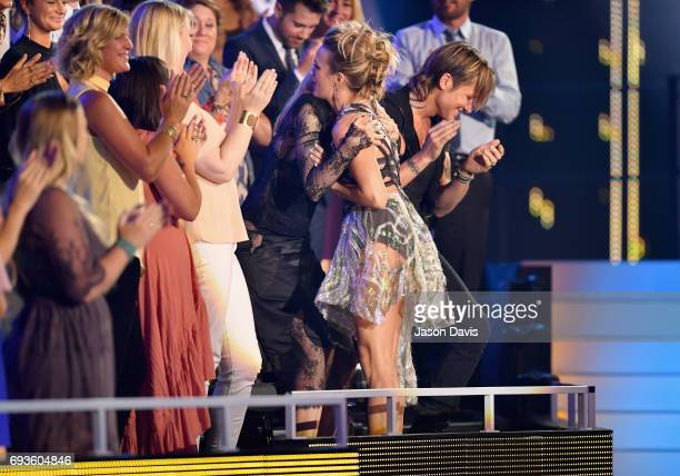 Carrie Underwood accepts the Female Video of the Year Award during the 2017 CMT Music Awards at the Music City Center on June 7 2017 in Nashville...