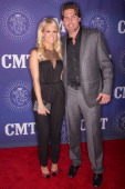Carrie Underwood and Mike Fisher attend the CMT Artist of the Year Awards at The Factory At Franklin on December 3 2012 in Franklin Tennessee