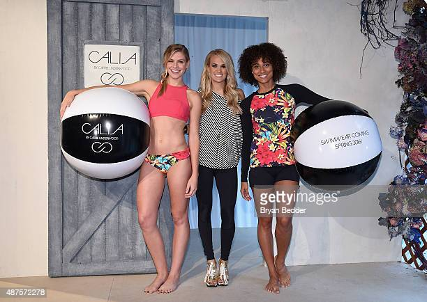 Carrie Underwood announces a new swim wear collection at the CALIA By Carrie Underwood New York Fashion Week Presentation at NYFW The HQ on September...
