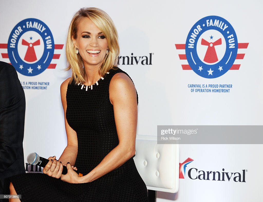 <a gi-track='captionPersonalityLinkClicked' href=/galleries/search?phrase=Carrie+Underwood&family=editorial&specificpeople=204483 ng-click='$event.stopPropagation()'>Carrie Underwood</a> announces partnership with Carnival Cruise Line on January 28, 2016 in Jacksonville, Florida.