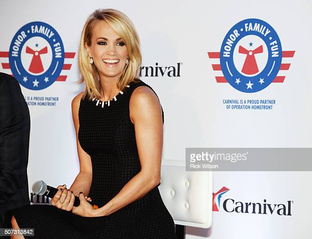 Carrie Underwood announces partnership with Carnival Cruise Line on January 28 2016 in Jacksonville Florida