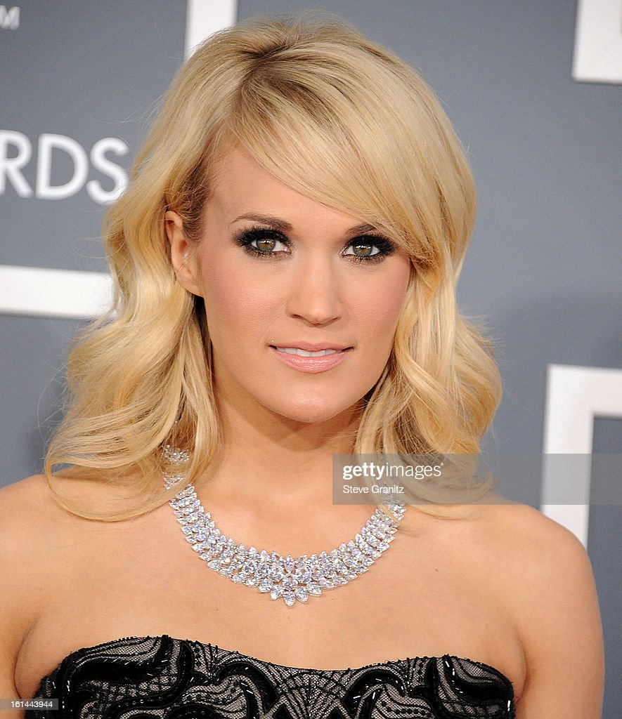 <a gi-track='captionPersonalityLinkClicked' href=/galleries/search?phrase=Carrie+Underwood&family=editorial&specificpeople=204483 ng-click='$event.stopPropagation()'>Carrie Underwood</a> arrives at the The 55th Annual GRAMMY Awards on February 10, 2013 in Los Angeles, California.