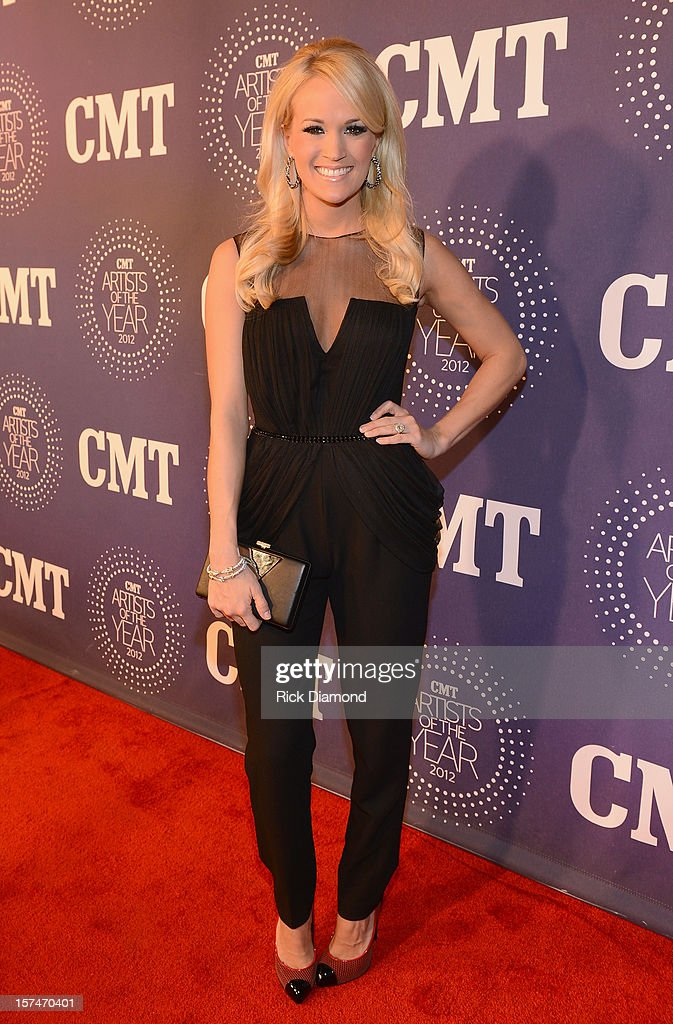 <a gi-track='captionPersonalityLinkClicked' href=/galleries/search?phrase=Carrie+Underwood&family=editorial&specificpeople=204483 ng-click='$event.stopPropagation()'>Carrie Underwood</a> attends 2012 CMT Artists Of The Year at The Factory at Franklin on December 3, 2012 in Franklin, Tennessee.