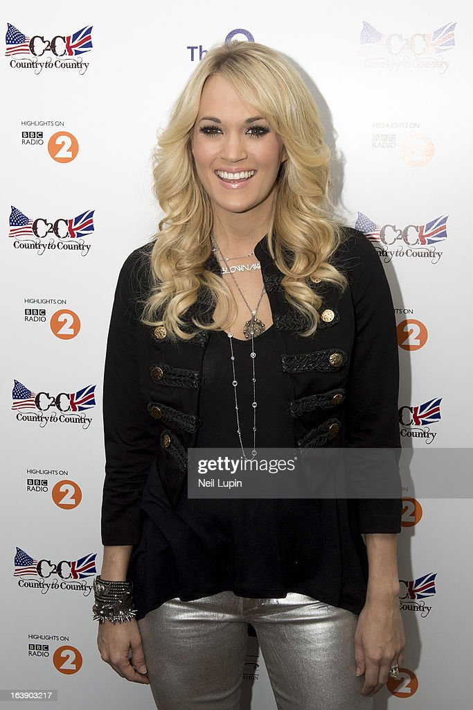Carrie Underwood attends a photo call and media interviews ahead of her performance on stage on Day 2 of C2C: Country To Country Festival 2013 at O2 Arena on March 17, 2013 in London, England.