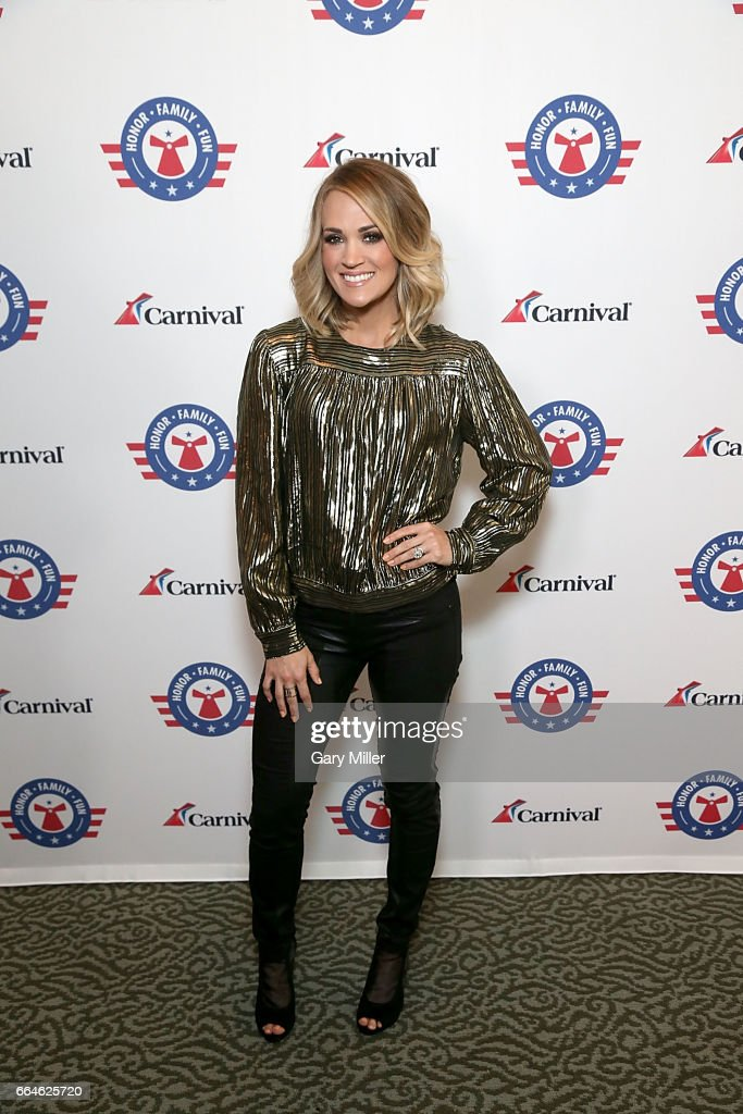 Carrie Underwood attends a press conference for her performance on the Carnival Cruise ship Imagination on April 4, 2017 in Catalina Island, California.