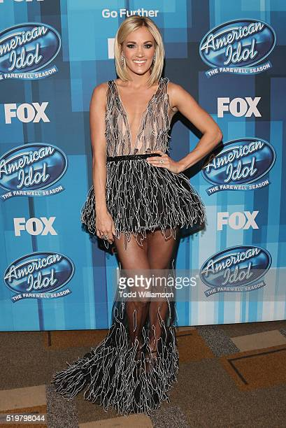 Carrie Underwood attends FOX's 'American Idol' Finale For The Farewell Season at Dolby Theatre on April 7 2016 in Hollywood California
