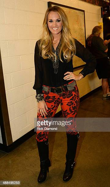 Carrie Underwood attends Keith Urban's Fifth Annual 'We're All 4 The Hall' Benefit Concert at the Bridgestone Arena on May 6 2014 in Nashville...