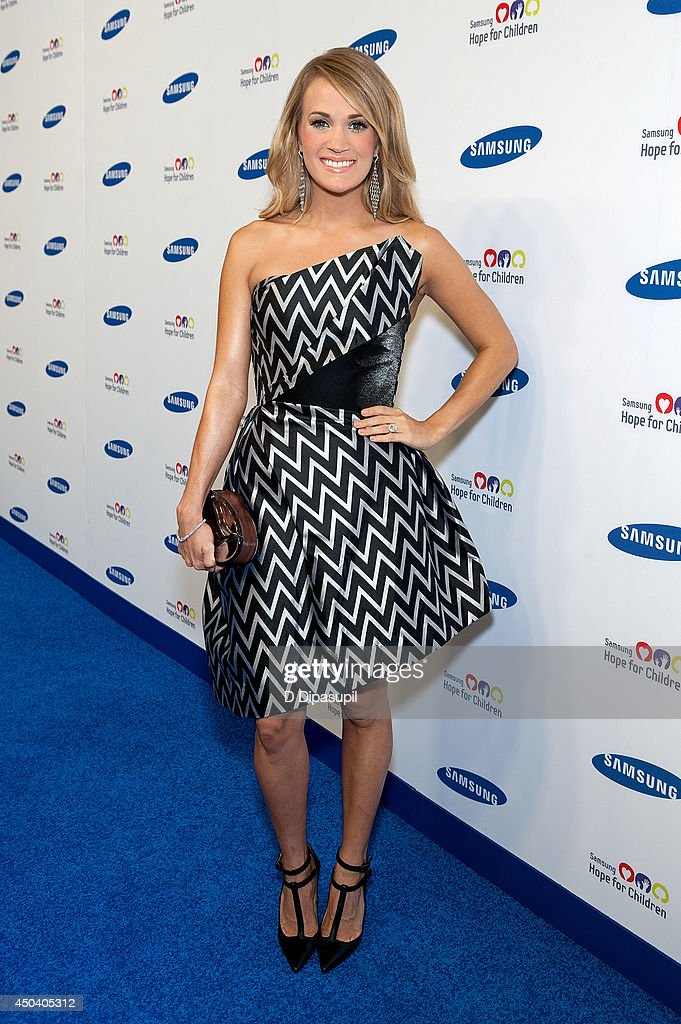 <a gi-track='captionPersonalityLinkClicked' href=/galleries/search?phrase=Carrie+Underwood&family=editorial&specificpeople=204483 ng-click='$event.stopPropagation()'>Carrie Underwood</a> attends the 13th Annual Samsung Hope For Children Gala at Cipriani Wall Street on June 10, 2014 in New York City.