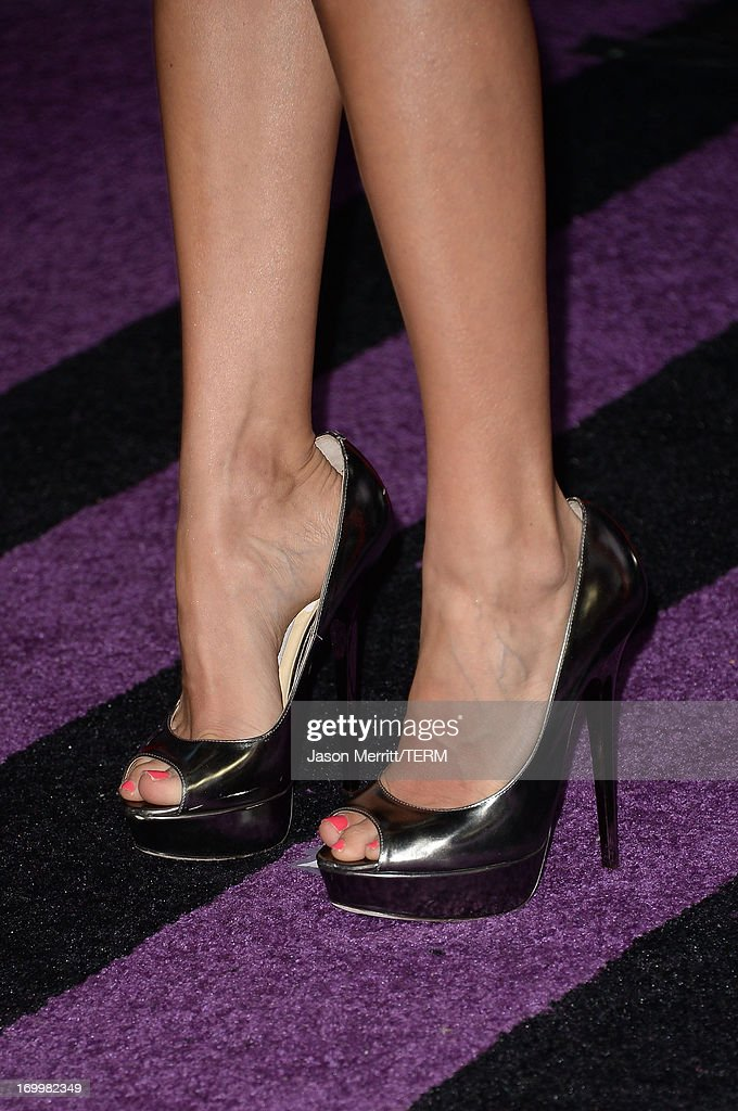 Carrie Underwood (shoe detail) attends the 2013 CMT Music awards at the Bridgestone Arena on June 5, 2013 in Nashville, Tennessee.