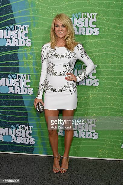 Carrie Underwood attends the 2015 CMT Music awards at the Bridgestone Arena on June 10 2015 in Nashville Tennessee