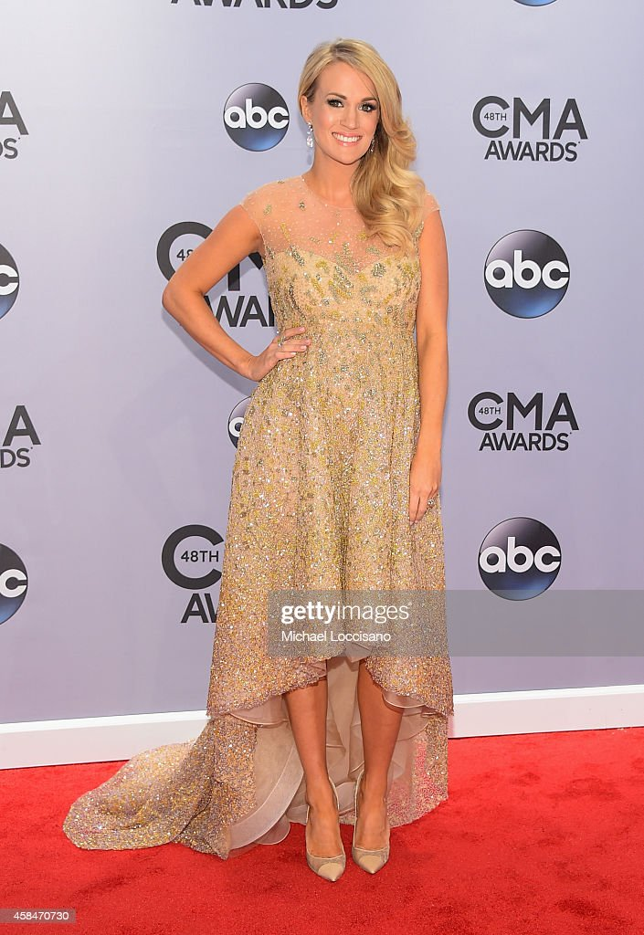 <a gi-track='captionPersonalityLinkClicked' href=/galleries/search?phrase=Carrie+Underwood&family=editorial&specificpeople=204483 ng-click='$event.stopPropagation()'>Carrie Underwood</a> attends the 48th annual CMA Awards at the Bridgestone Arena on November 5, 2014 in Nashville, Tennessee.