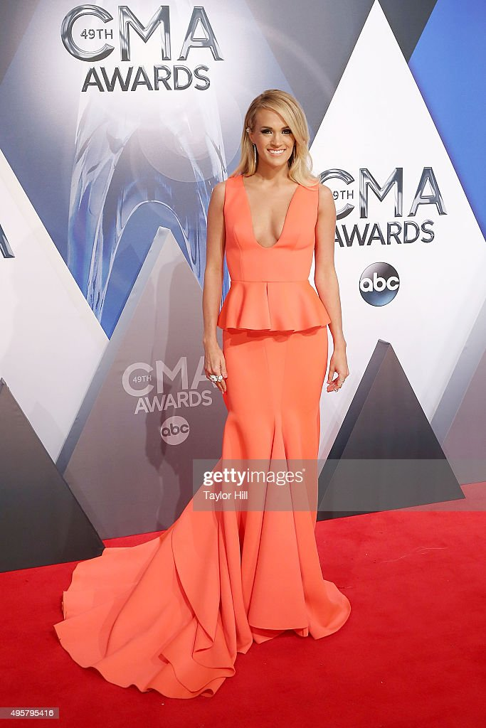 <a gi-track='captionPersonalityLinkClicked' href=/galleries/search?phrase=Carrie+Underwood&family=editorial&specificpeople=204483 ng-click='$event.stopPropagation()'>Carrie Underwood</a> attends the 49th annual CMA Awards at the Bridgestone Arena on November 4, 2015 in Nashville, Tennessee.