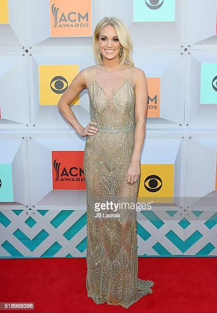 Carrie Underwood attends the 51st Academy of Country Music Awards at MGM Grand Garden Arena on April 3 2016 in Las Vegas Nevada