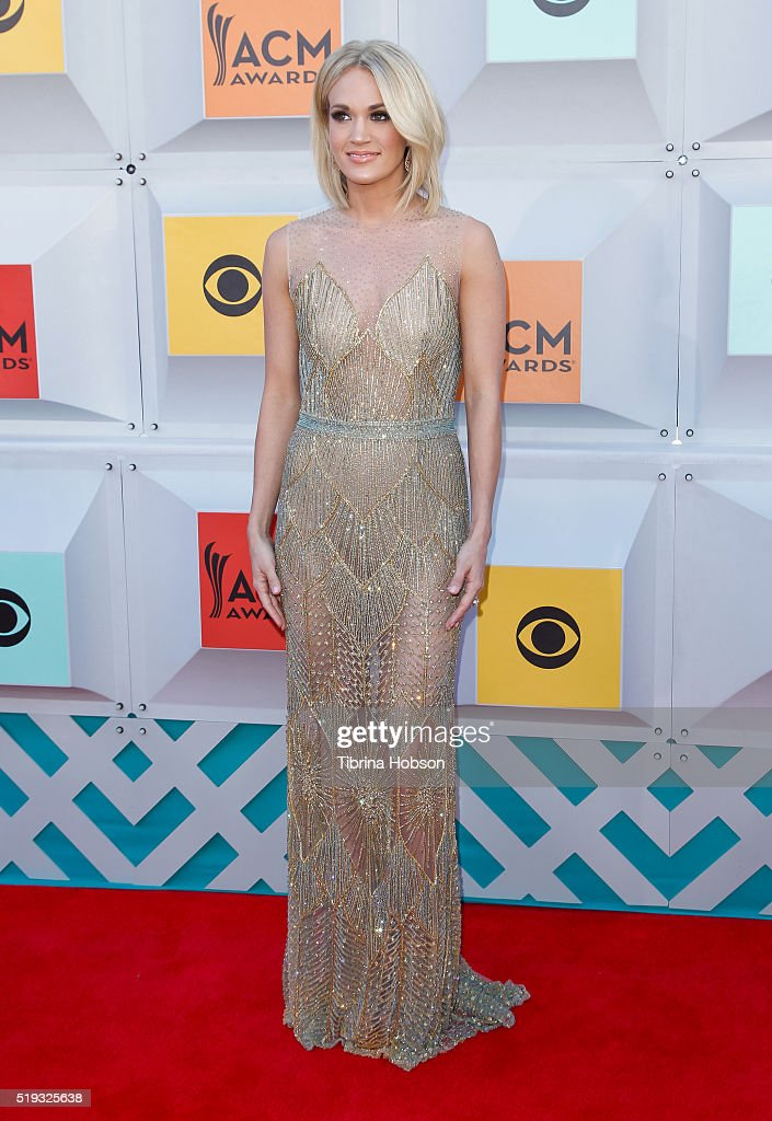 Carrie Underwood attends the 51st Academy of Country Music Awards at MGM Grand Garden Arena on April 3, 2016 in Las Vegas, Nevada.