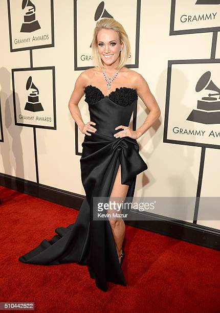 Carrie Underwood attends The 58th GRAMMY Awards at Staples Center on February 15 2016 in Los Angeles California
