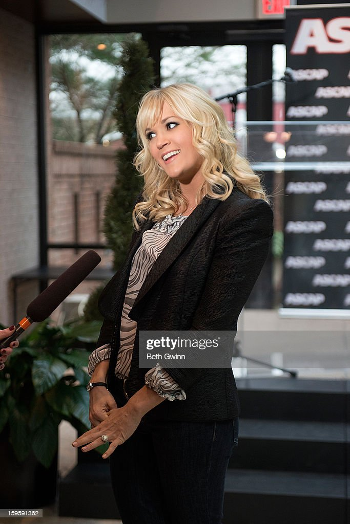 Carrie underwood attends the Blown Away #1 Party at ASCAP Building on January 16, 2013 in Nashville, Tennessee.