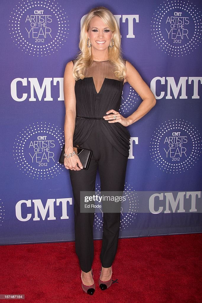 <a gi-track='captionPersonalityLinkClicked' href=/galleries/search?phrase=Carrie+Underwood&family=editorial&specificpeople=204483 ng-click='$event.stopPropagation()'>Carrie Underwood</a> attends the CMT Artist of the Year Awards at The Factory At Franklin on December 3, 2012 in Franklin, Tennessee.