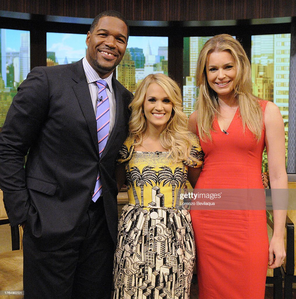 MICHAEL -8/13/13 - Carrie Underwood is a guest on 'LIVE with Kelly and Michael,' distributed by Disney-ABC Domestic Television. MICHAEL