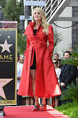 Carrie Underwood Honored With Star On The Hollywood...